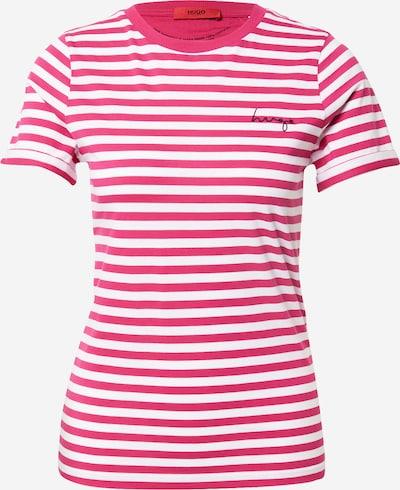 HUGO T-shirt en rose / blanc, Vue avec produit