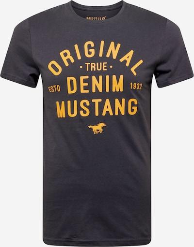 MUSTANG T-Shirt 'Aaron' in kobaltblau / goldgelb, Produktansicht