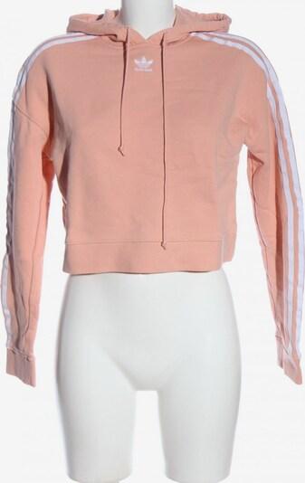 ADIDAS Kapuzensweatshirt in XXS in pink / weiß, Produktansicht