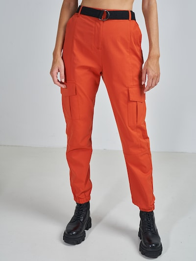 narancs ABOUT YOU x Swalina&Linus Cargo nadrágok 'Mira', Modell nézet