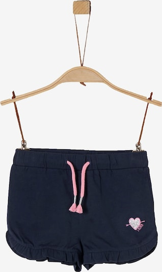 s.Oliver Junior Shorts in dunkelblau / altrosa / silber, Produktansicht