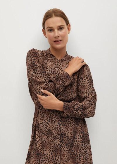 MANGO Košulja haljina 'Bonaire' u smeđa, Prikaz modela