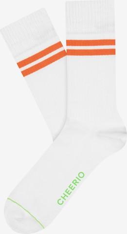 CHEERIO* Socks 'TENNIS TYPE' in White