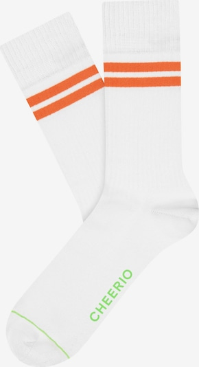 CHEERIO* Socken 'TENNIS TYPE' in orange / weiß, Produktansicht