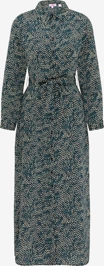 Rochie tip bluză MYMO pe maro cămilă / bleumarin / verde smarald, Vizualizare produs
