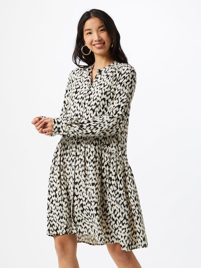 mbym Kleid 'Meera, Ohara Print' in schwarz / weiß, Modelansicht