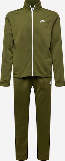 Nike Sportswear Облекло за бягане в маслина / бяло, Преглед на продукта