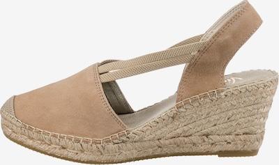 Vidorreta Sandale in beige, Produktansicht