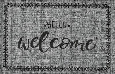 MD-Entree Fußmatte 'Hello Welcome' in grau / schwarz, Produktansicht