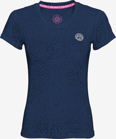 BIDI BADU T-Shirt 'Anni Burnout Tech' in dunkelblau, Produktansicht