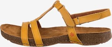 ART Strap Sandals in Yellow