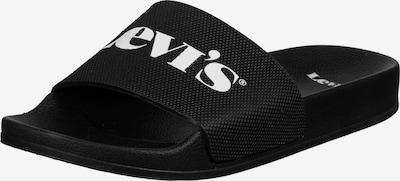 LEVI'S Badeschuhe 'June' in schwarz / weiß, Produktansicht