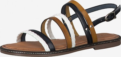 TAMARIS Sandalen met riem in de kleur Navy / Curry / Wit, Productweergave
