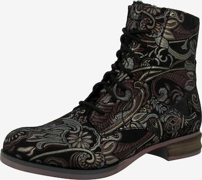 JOSEF SEIBEL Stiefelette 'Sanja' in dunkelbraun / dunkelgrün / schwarz, Produktansicht