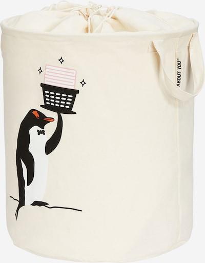 ABOUT YOU Wäschekorb 'Comfy S' in beige / orange / rosa / schwarz, Produktansicht