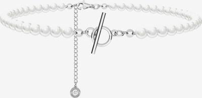 Giorre Halskette in silber / perlweiß, Produktansicht
