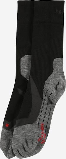 FALKE Chaussettes de sport en gris chiné / rouge / noir, Vue avec produit