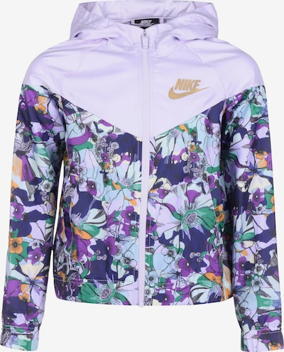 NIKE Athletic Jacket in Mixed colors / White, Item view