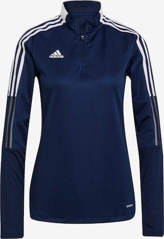 ADIDAS PERFORMANCE Athletic Sweatshirt in Blue