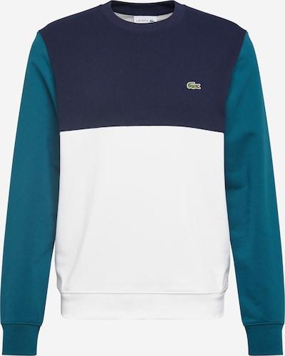LACOSTE Sweat-shirt en bleu / émeraude / blanc, Vue avec produit