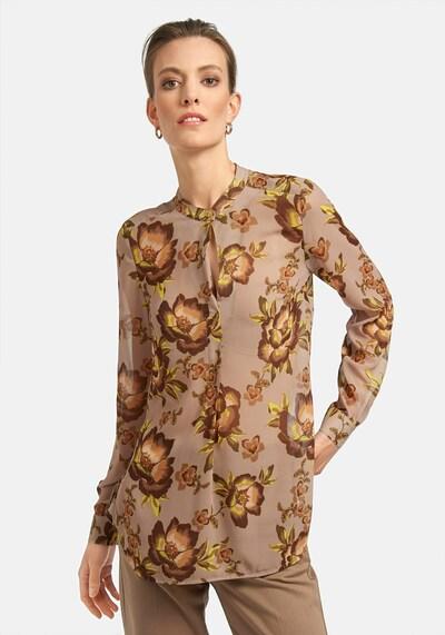 Uta Raasch Langarmbluse Bluse in beige / nude / braun / cappuccino / hellbraun / mischfarben, Modelansicht