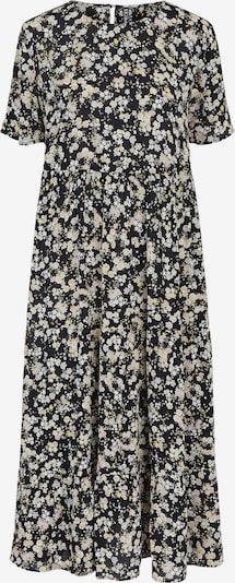 PIECES Kleid 'Gertrude' in zitrone / pastellorange / schwarz / weiß, Produktansicht