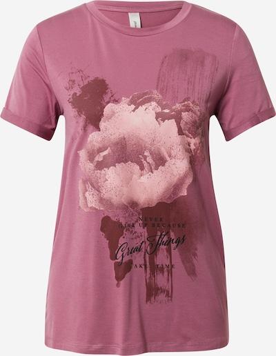 Tricou 'MARICA' Soyaconcept pe roz / roz pal / roșu vin / negru, Vizualizare produs