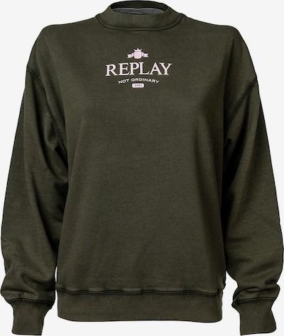 REPLAY Sweatshirt in Dark green / White, Item view