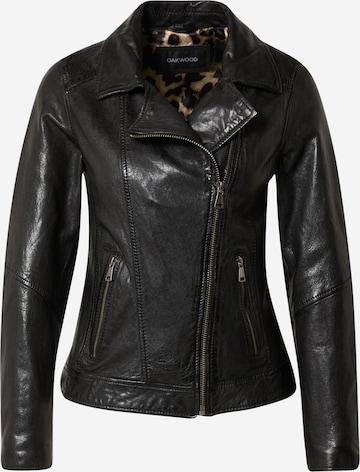 OAKWOOD Overgangsjakke 'FLOWER' i svart