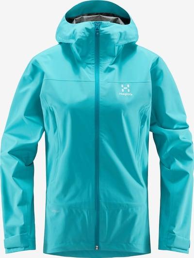 Haglöfs Outdoorjas 'Spate' in de kleur Cyaan blauw / Wit, Productweergave