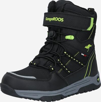KangaROOS Škornji za v sneg 'Novice' | limeta / črna barva, Prikaz izdelka