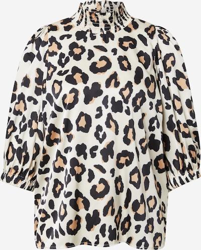 Lollys Laundry Bluse 'Bobby' in hellbraun / schwarz / weiß, Produktansicht