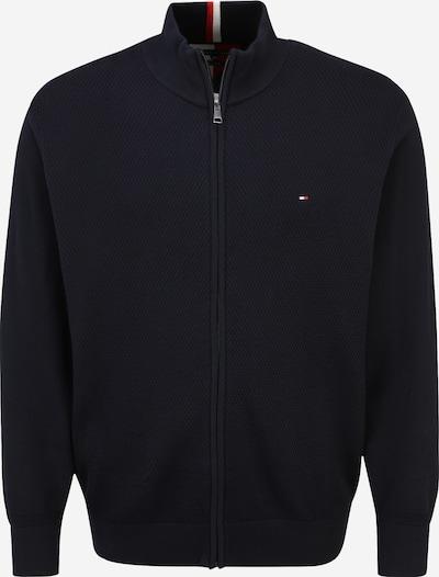 Tommy Hilfiger Big & Tall Kardigan u tamno plava / vatreno crvena / bijela, Pregled proizvoda
