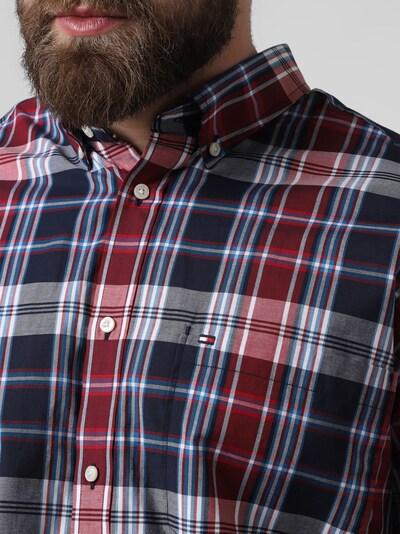 TOMMY HILFIGER Hemd in marine / rauchblau / rot / pastellrot / weiß, Produktansicht