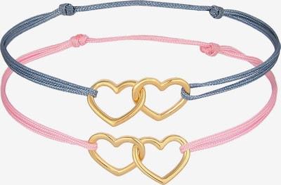 ELLI Armband Herz in blau / gold / rosa, Produktansicht