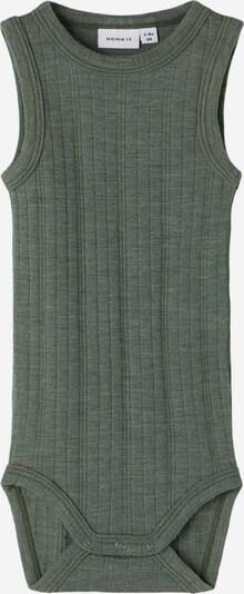 NAME IT Wolle Strampler in grün, Produktansicht