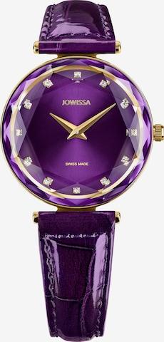 JOWISSA Armbanduhr Facet Brilliant in Lila
