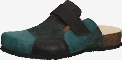 THINK! Pantoletten in dunkelgrün / schwarz, Produktansicht