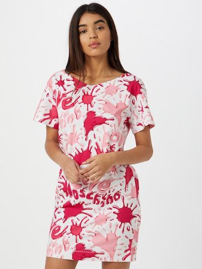 Love Moschino Kleid in pink / dunkelpink / weiß, Modelansicht