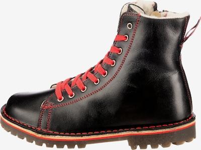 Grünbein Stiefeletten in rot / schwarz, Produktansicht