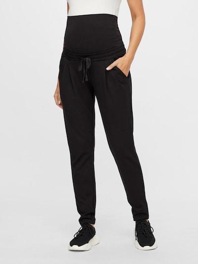 MAMALICIOUS Kalhoty se sklady v pase - černá, Model/ka
