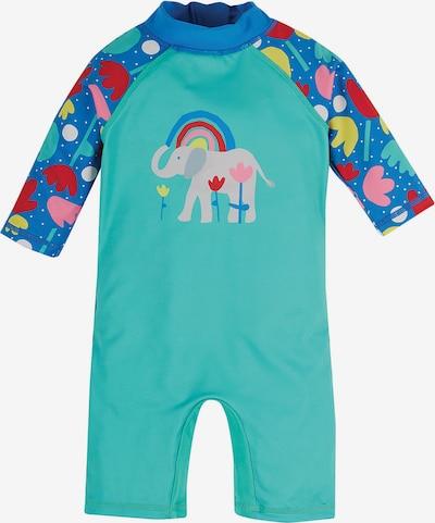 Frugi Schwimmanzug in blau / türkis / rosa, Produktansicht