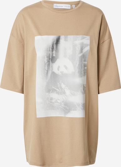 NU-IN T-Shirt 'Habitat' in hellbeige / schwarzmeliert / weiß, Produktansicht