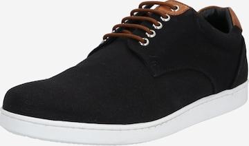 melns ABOUT YOU Sporta apavi ar šņorēm 'Matteo'