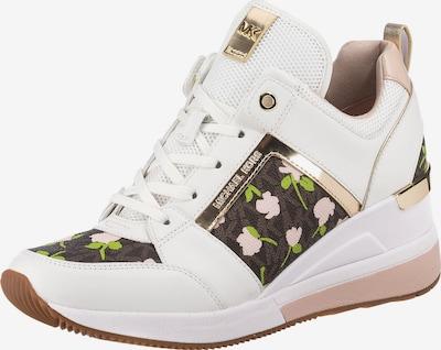 Michael Kors Sneaker in dunkelbraun / gold / grün / weiß, Produktansicht