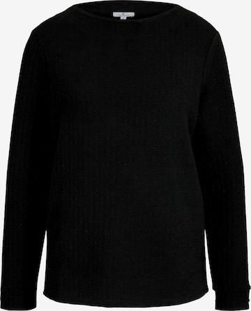 TOM TAILOR Sweatshirt in Black