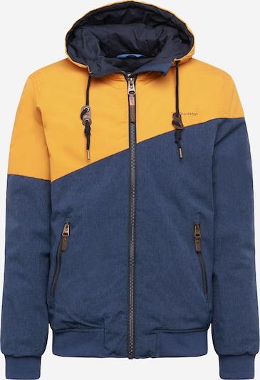 Ragwear Zimska jakna 'Wings' | mornarska / zlato-rumena barva, Prikaz izdelka