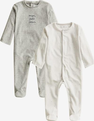 MANGO KIDS Strampler in grau / weiß, Produktansicht