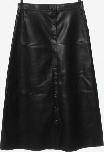 ZARA Kunstlederrock in M in schwarz, Produktansicht