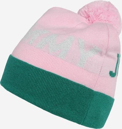 Megzta kepurė iš Tommy Jeans, spalva – žalia / rožių spalva / sidabrinė, Prekių apžvalga